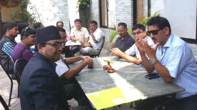 High tea after inaugural session of PTC organized training in Pokhara on Sunday. Picture: Recentfusion.com