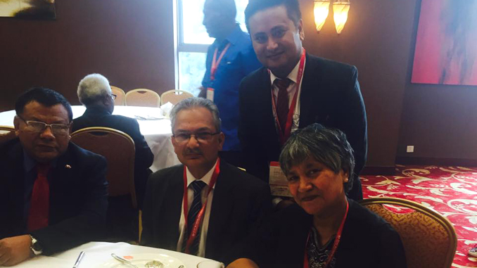 Taking picture with former PM Dr. Babu Ram Bhattarai in China. Picture: Recentfusion.com