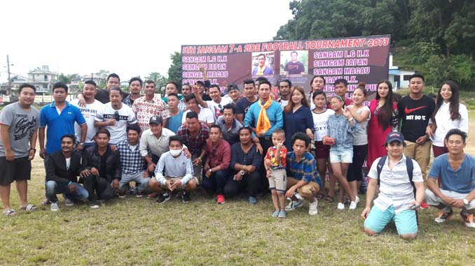 group picture in Sangam Cup football tournament, in Pokhara on Saturday. Picture: Sangam Club