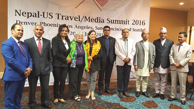 Posing for group photograph during US sales mission. Pictures: From FB of Biplab Paudel.