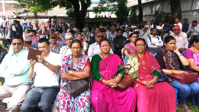 Nepali Congress Kaski cadres during BP Memorial Day. Picture: Recentfusion.com