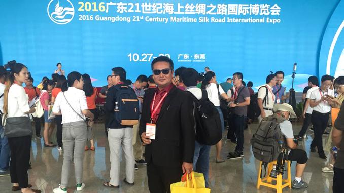 WRHA Pokhara treasurer Rajendra Dhakal at MSRI expo in China. Picture: Recentfusion.com